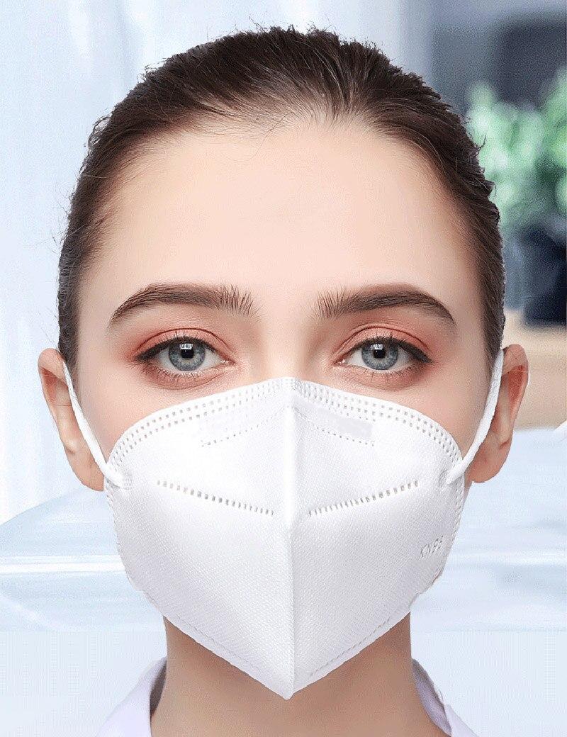 100 pçs ffp2 máscara facial kn95 máscaras de filtração máscara de poeira máscara de boca proteger anti-gripe mascarillas masque tapabocas 6