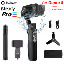 Hohem iSteady Pro 3 3 Axis Splash Proof Handheld Gimble for DJI Osmo Action Gopro Hero 8/7/6/5/4 SJCAM YI Cam RX0 Action Camera