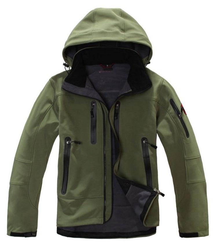 New Outdoor Soft Case Single Layer Raincoat Jacket Warm Fleece Famous Mountaineering Ski Suit Plus-sized