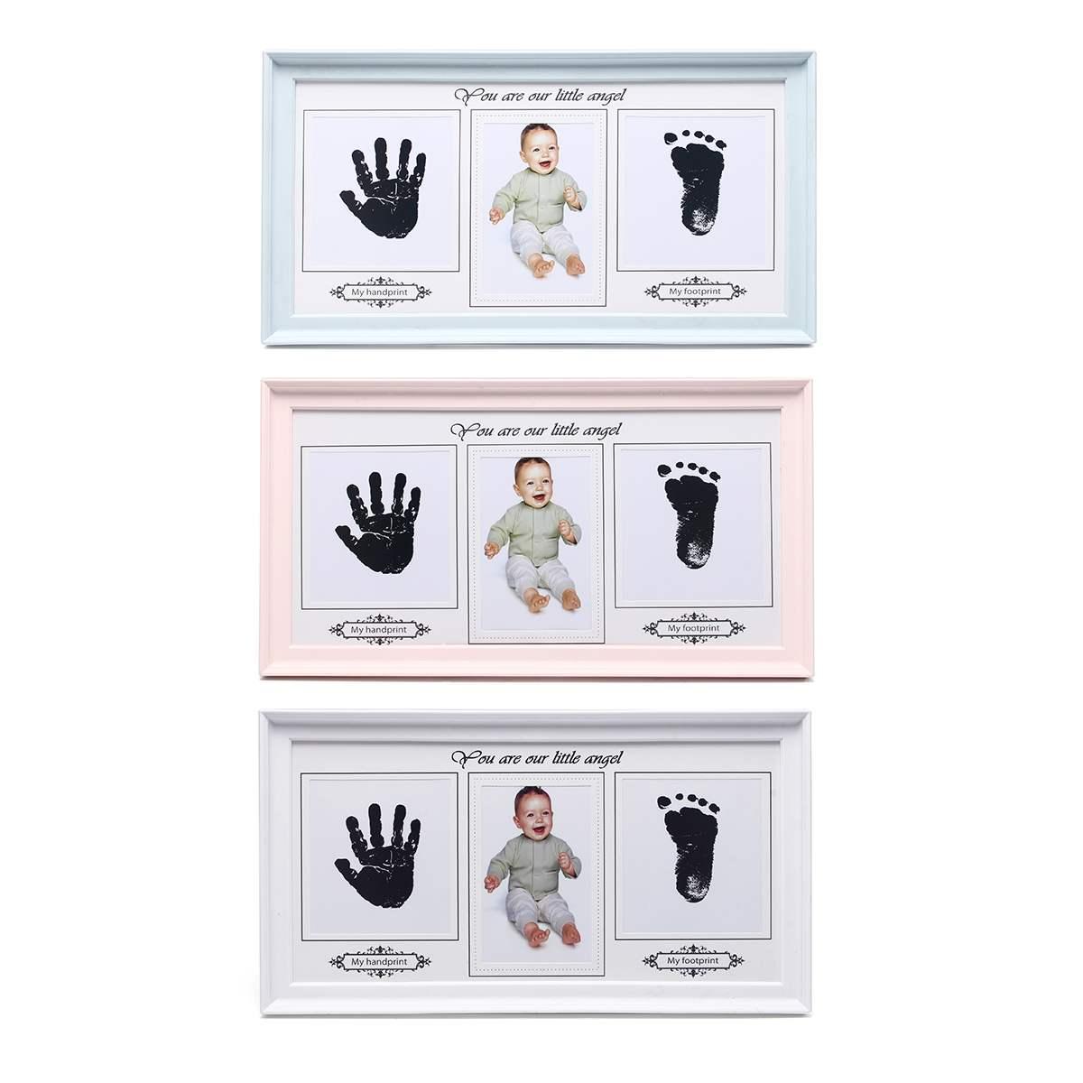 Baby Photo-Frame Inkpad Cast-Set Ink-Pad-Toys Imprint-Kit Storage Inkless Memento Photo-Frame Keepsake Gift