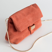 Fashion Frosted Faux Suede Folding Bag Women Casual Shoulder Bags Ladies Large Capacity Bucket Chain Messenger