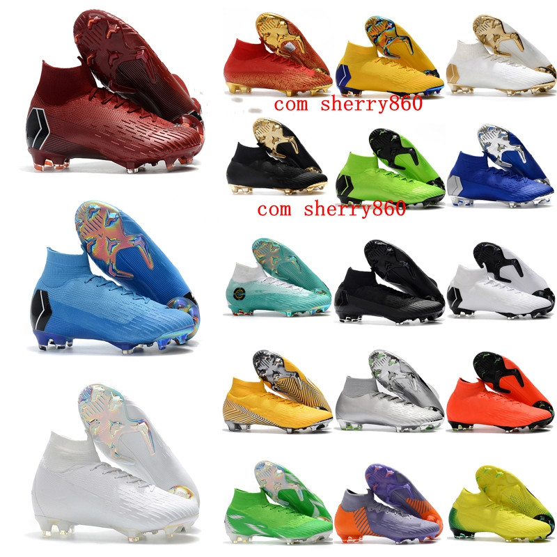 2019 mens soccer shoes  Superfly VI 360 Elite CR7 FG soccer cleats Crampons de football boots SuperflyX Ronaldo scarpe calcio|Soccer Shoes| |  - title=