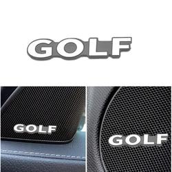 4Pcs 3D Aluminum Audio Video Speaker Car Stickers For Volkswagen VW Golf 7 6 5 4 3 v mk4 mk5 mk7 mk2 mk3 2019 2020 2 Accessories
