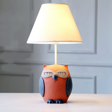 цена Modern lovely owl table lamp creative deco Resin LED desk light for living room bedroom bedside lamp study room indoor light e27 онлайн в 2017 году