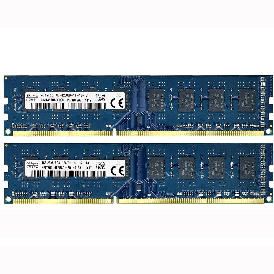 Hynix 8 Гб комплект 2X4GB DDR3-1600MHZ 1333 МГц PC3-12800U PC3-10600U 240PIN DIMM настольных компьютеров Оперативная память 1,5 в Intel и AMD Совместимость