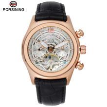 Часы наручные forsining мужские с выпуклым стеклом стильные