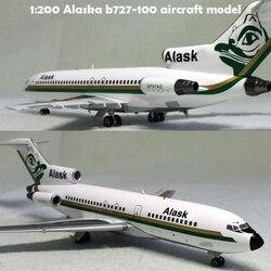 Редкий тонкий 1:200 Аляска b727-100 модель самолета n797as сплав Коллекционная модель