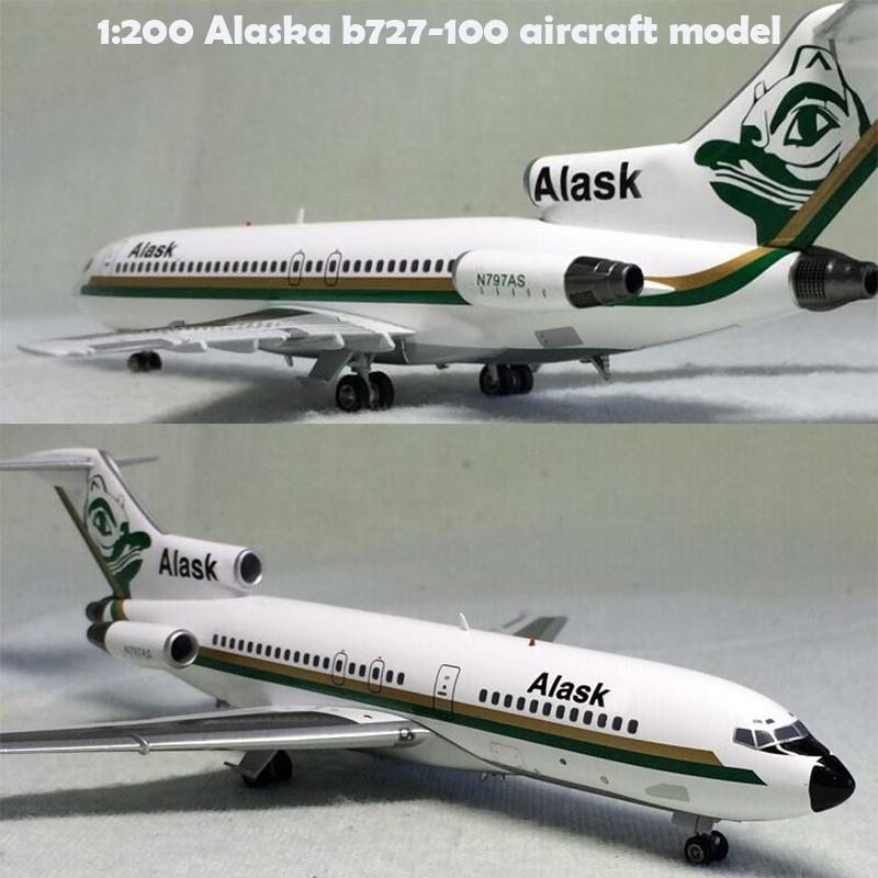 rare  fine  1:200  Alaska b727-100 aircraft model n797as  Alloy collection model