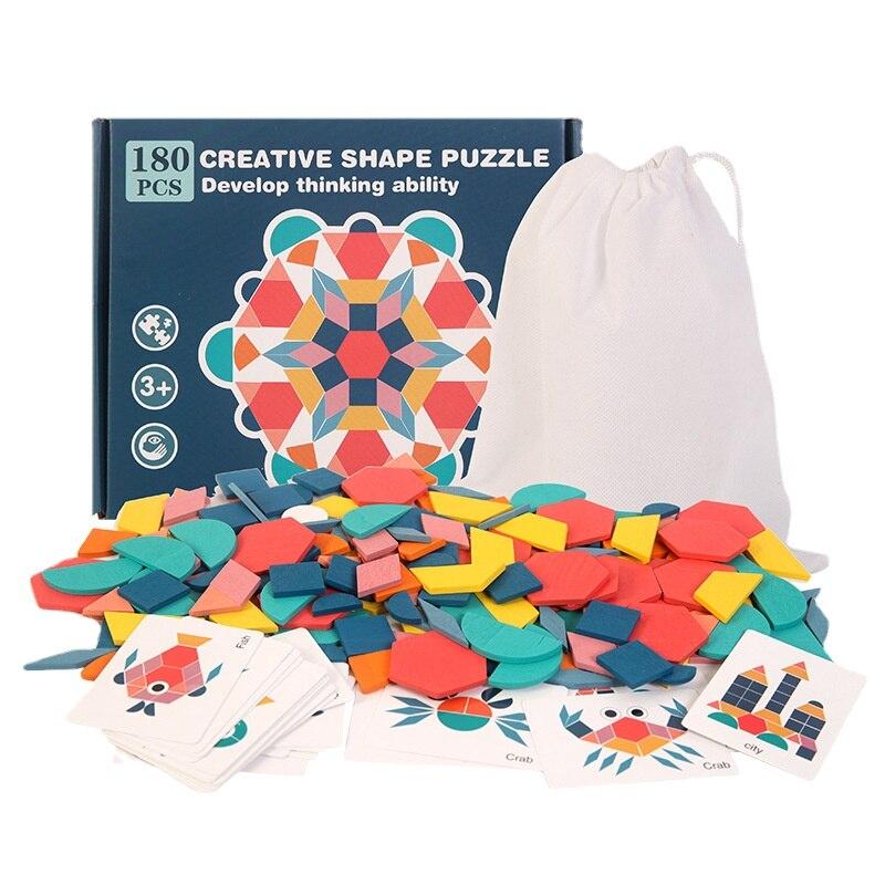 Novas crianças de madeira 3d quebra-cabeça placa inteligente bebê montessori educacional aprendizagem brinquedos para crianças forma geométrica quebra-cabeças brinquedo 3