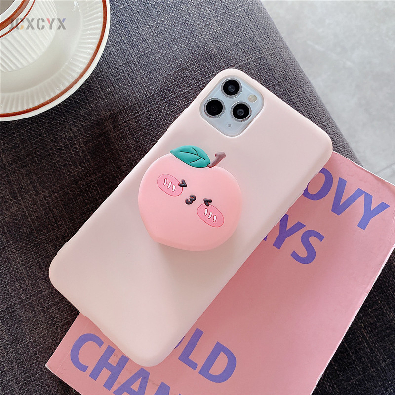 3D Luxury cute cartoon fruit avocado Soft silicone phone case for iphone X XR XS 11