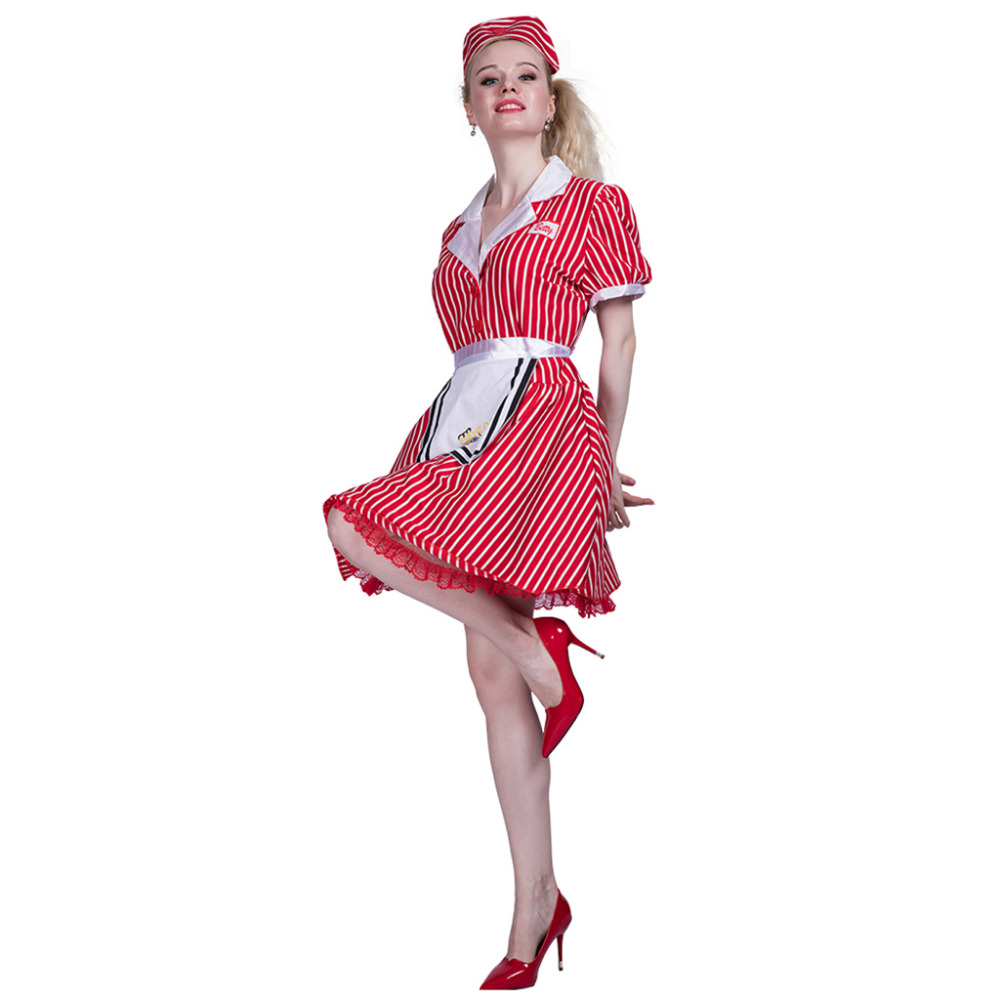 Women <font><b>Sexy</b></font> Restaurant Cocktail Waitress Maid Costume <font><b>Dress</b></font> Cosplay Party Fancy <font><b>Dress</b></font> Apron <font><b>Halloween</b></font> Bavaria beer Costumes image