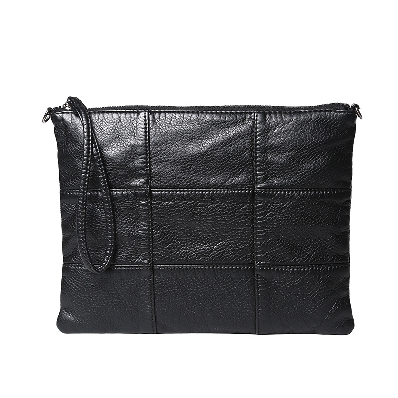 Image 2 - Super soft leather hand bag simple lady bag washed leather cross body bag-in Crossbody Bags from Luggage & Bags