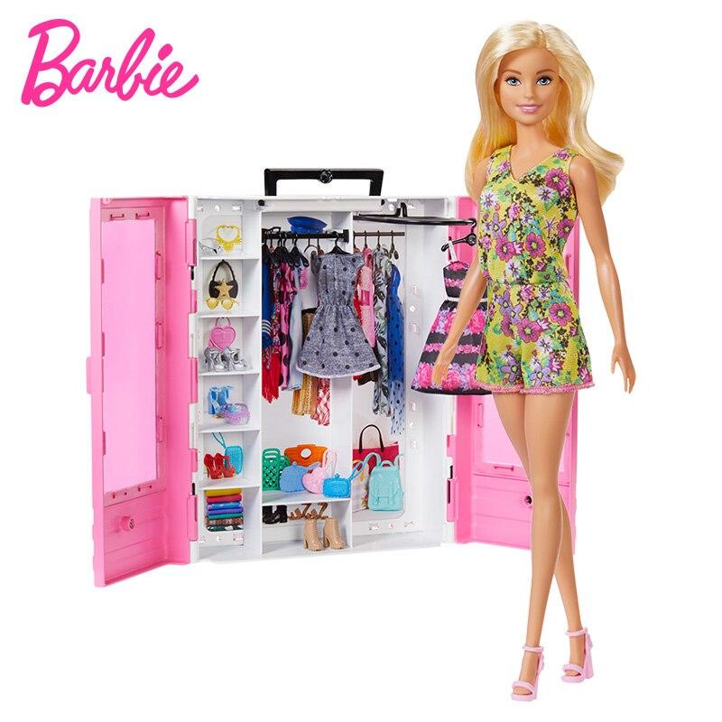 Barbie Puppe Traum Kleiderschrank Fashionistas Ultimative Schrank Barbie Mädchen Prinzessin Kinder Dressup Geburtstag Geschenk Kinder Spielzeug GBK12