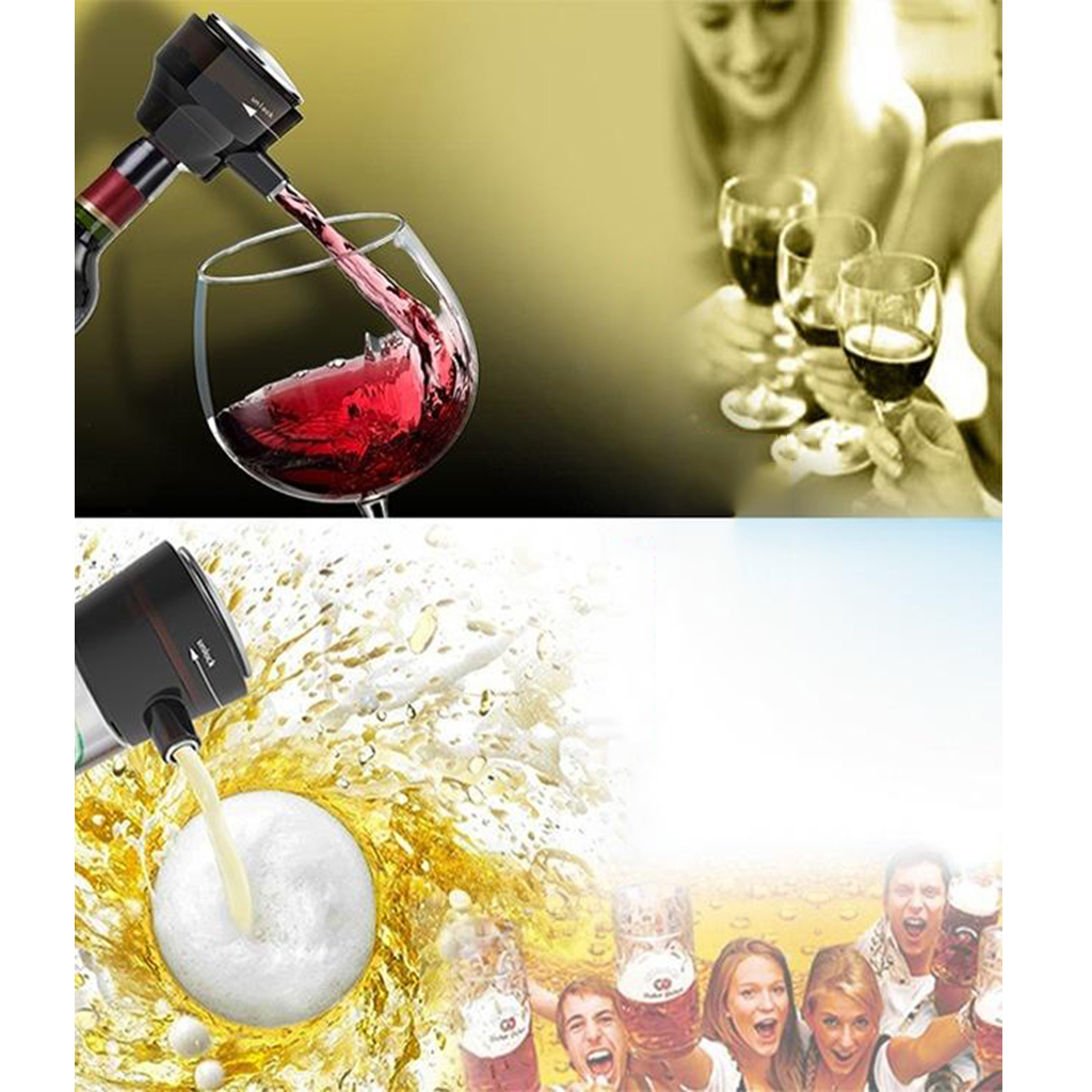 Portable Electric Wine Decanter Beer Foam Maker Small Size for Party Travel