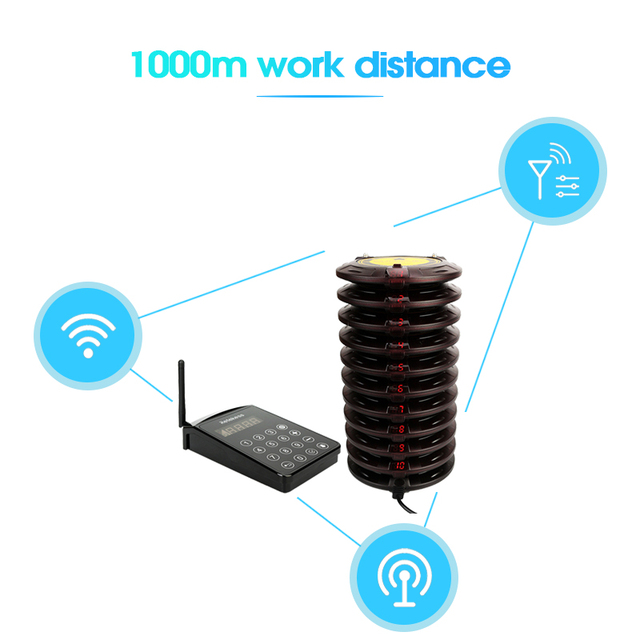 Retekess – système d'appel de serveur de Restaurant TD103, avec 10 récepteurs, pour la clinique, le camion alimentaire, l'hôpital 3