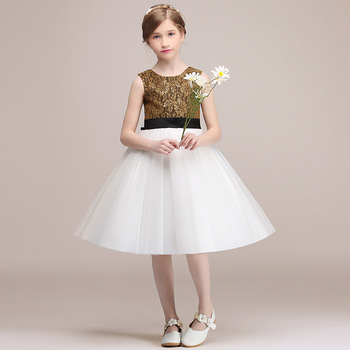 Short Formal Birthday Party Dress For Kids Girl White Tulle Cute Communion Princess Gowns Flower Girl Dresses For Wedding princess birthday costumes party flower girl dresses for wedding party elegant princess girl formal dress first communion dress