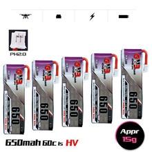 1-10 pces gnb 3.8v 650mah 60c/120c 1s 4.35v hv lipo bateria ph2.0 plug para tinyhawk snapper7 e010 m80s tiny7 beta85 zangão