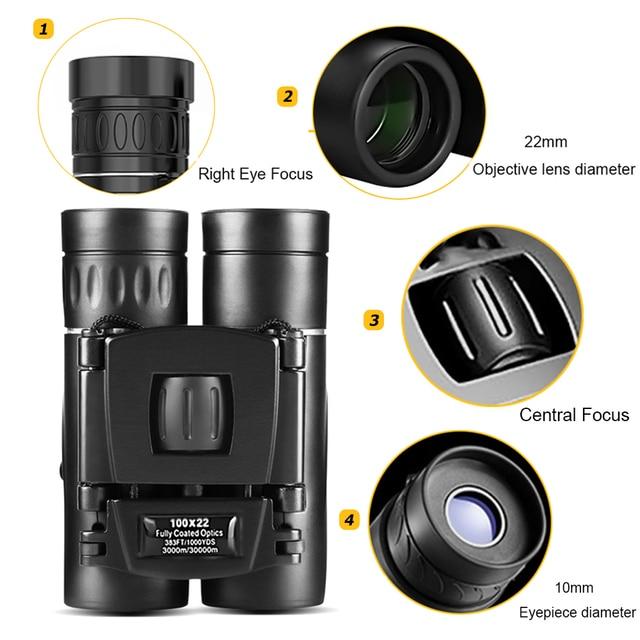 100X22 Professional Binoculars 30000M High Power HD Portable Hunting Optical Telescope BAK4 Night Vision Binocular For Camping 2
