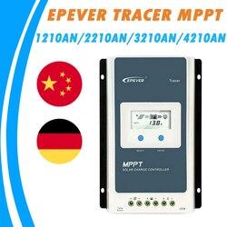EPever Солнечный контроллер заряда 10A 20A 30A 40A Blacklight lcd Солнечный регулятор 12 в 24 в автоматический Трейсер 1210an 2210AN 3210AN 4210AN TOP