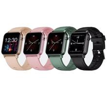 Monitor de pressão arterial de freqüência cardíaca de banda inteligente alto brilho tela colorida inteligente pulseira notificação