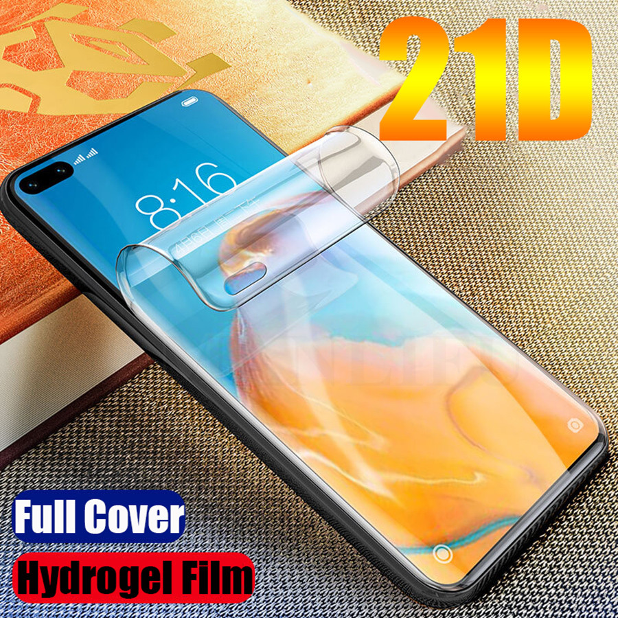 21D Silicone Hydrogel Film For Huawei P40 P30 P20 Pro Protective Full Screen Protector On Huawei P40 P30 P20 Lite Film Not Glass