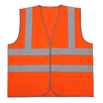 High Visibility Reflective Fluorescent Vest Orange Color Outdoor Safety Clothing Running Ventilate Safe Vest spardwear reflective safety clothing safety orange vest reflective vest work vest traffic vest free logo printing