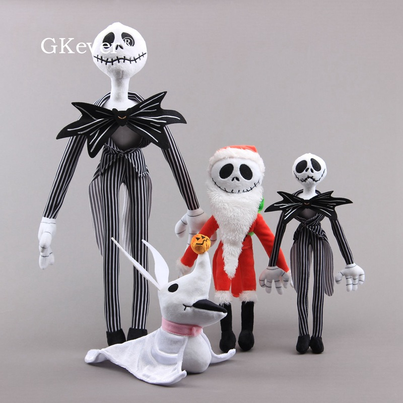 <font><b>20</b></font>-50cm Santa Jack Skellington Plush Toys Doll <font><b>Peluche</b></font> Nightmare before Christmas Ghost Dog Zero Jack Plush Doll Kids Women Gift image