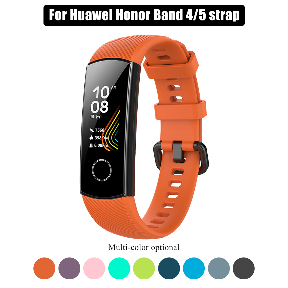 Silicone Strap For Honor Band 5 4 Wristband Replacement Wrist Strap For Honor Band 5 Oximetry Protective Film For Huawei Band 4