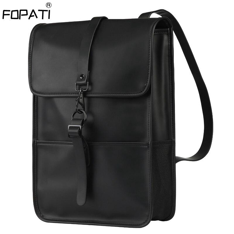 Waterproof PU Leather Backpack Women Multi Pocket Travel Backpacks Female Woman Backpack School Bag For Teenage Girls
