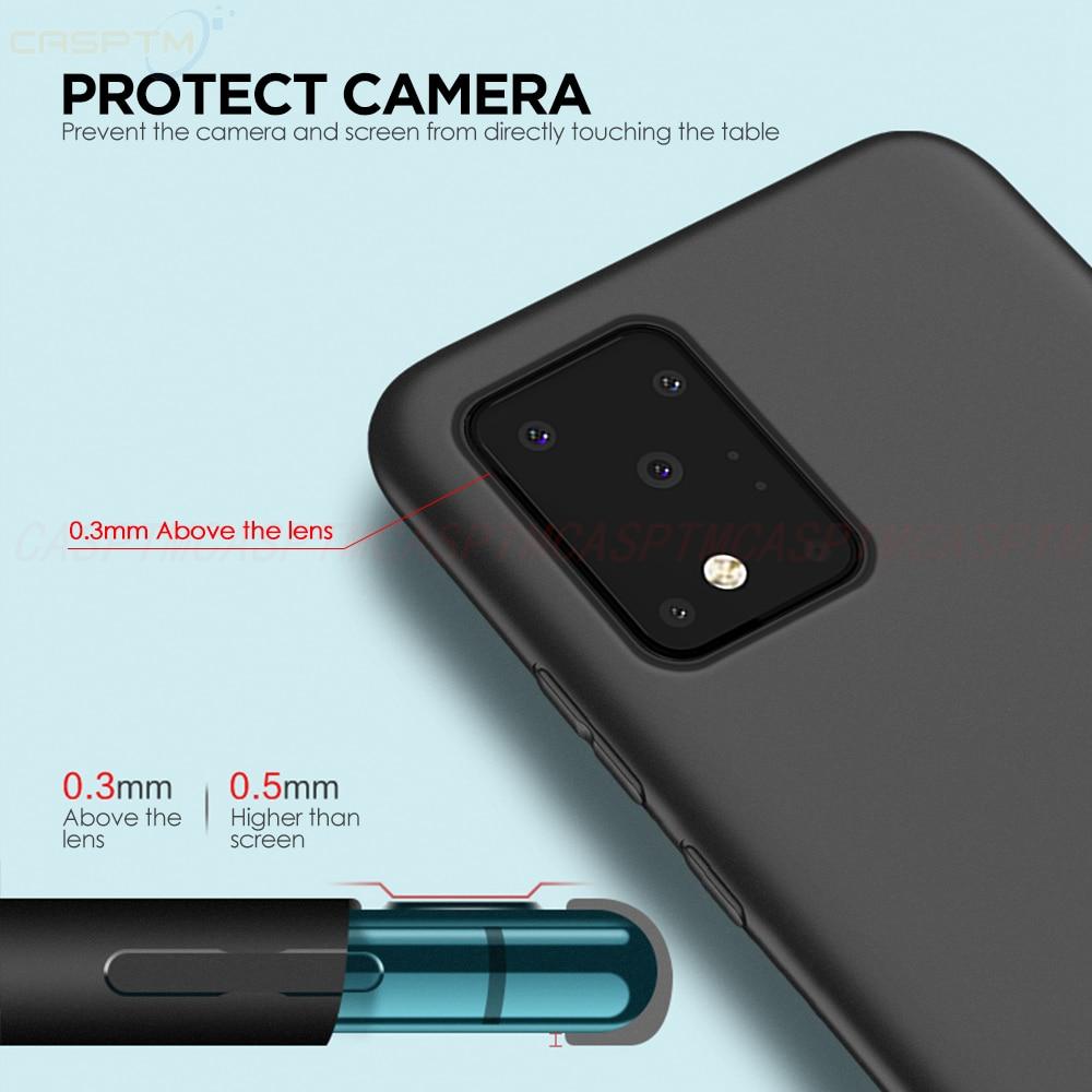 Mềm TPU Cho Samsung Galaxy S11 Plus S10 M30s Đen Mờ Nắp Lưng Cho Samsung A30 A50 A51 a71 S11E Silicone Funda