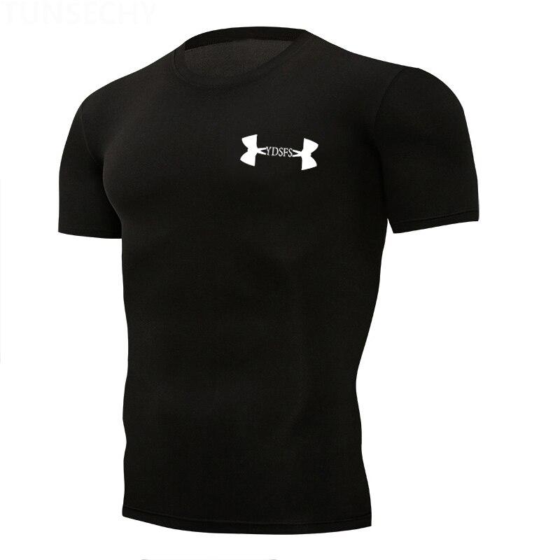 Gym t shirt Mens Sport Shirt Quick Dry Tight Fitness Running shirts  Rashgard T Sportswear Brand tshirt MMA