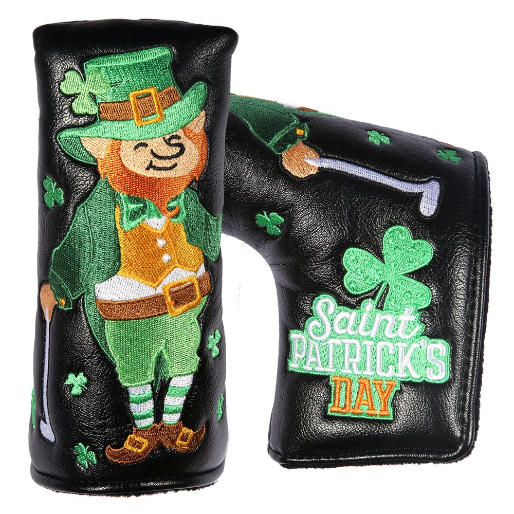 New St. Patrick Shamrock Golf Golf Blade Putter Cover Headcovers For Taylormade Blade And Mid-mallet Putter