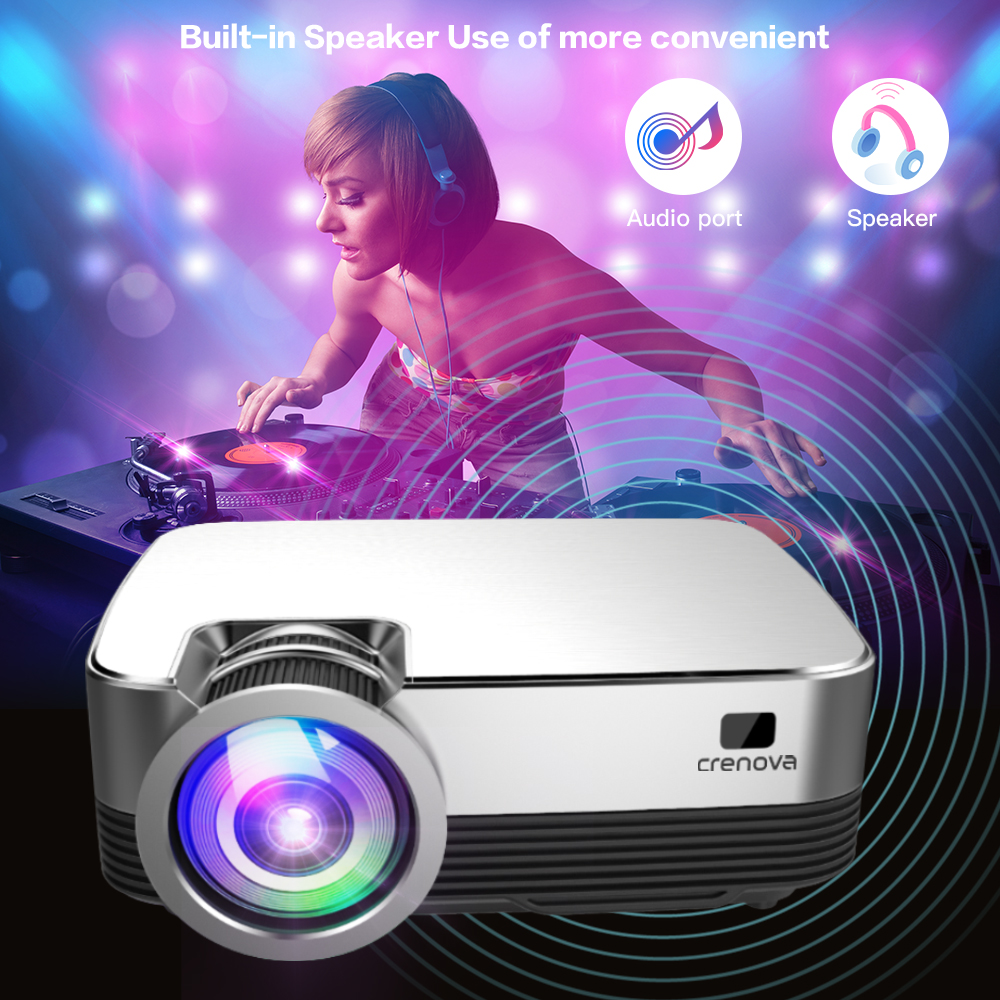 cheapest CRENOVA Hot Sale Android Video Projector Q6 1280 720P Native Resolution With Android 8 0 WIFI Bluetooth Home Cinema Movie Beamer