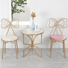 Make Up Dining Chair Desk Chairs кресло для отдыха chaises Salle Manger Living Room Metal Butterfly Bow Backrest Home Decoration