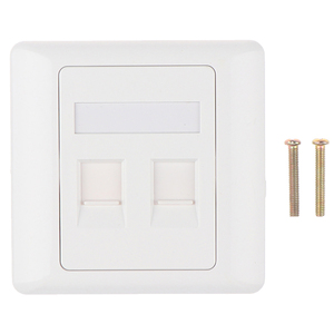 86 Type Computer Socket Panel RJ45 Cable Interface Outlet Wall Socket 2 Ports Easy To Install Electrical Equipment
