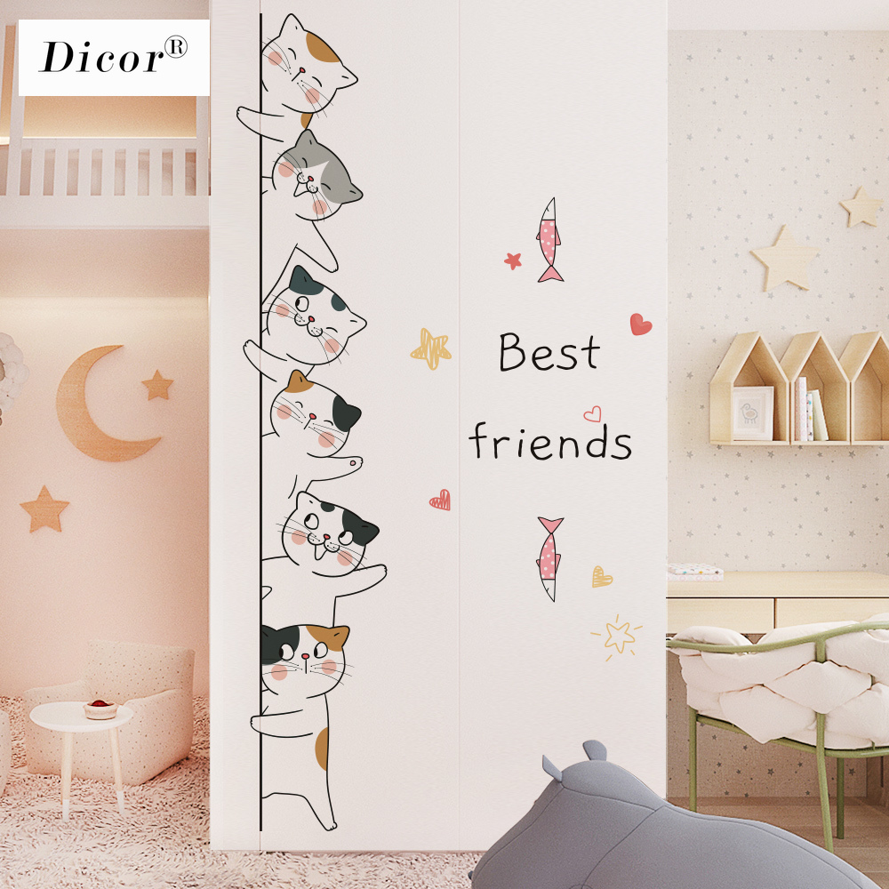 2020 New Arrival Bedroom Door Stickers Corner Sticker Baby Wall Sticker For Kids Room Wall Decor Living Room Home Accessories