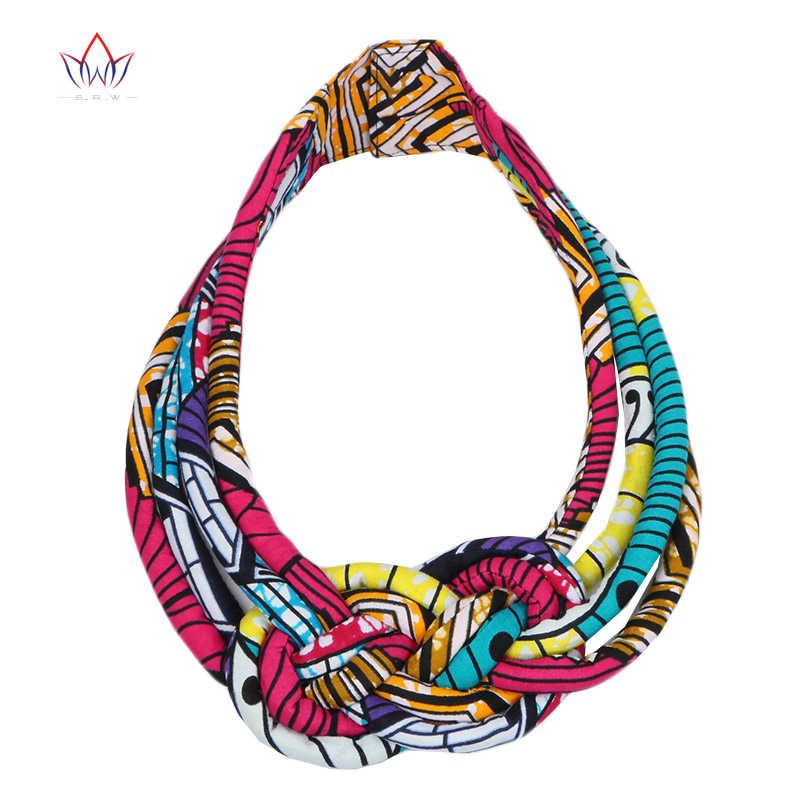 Châu Phi 2019 Vải Yếm Batik Vòng Cổ Ankara Vải Nút Thắt Vòng Cổ Handmade Bộ Lạc Cổ Cho Nữ WYB42