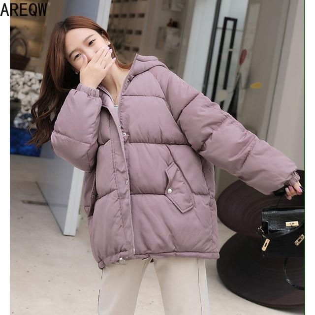 2021 New Short Winter Jacket Women Oversize Parka Coat Warm Thick Cotton Coat Loose Hooded Padded Women Winter Jacket 5