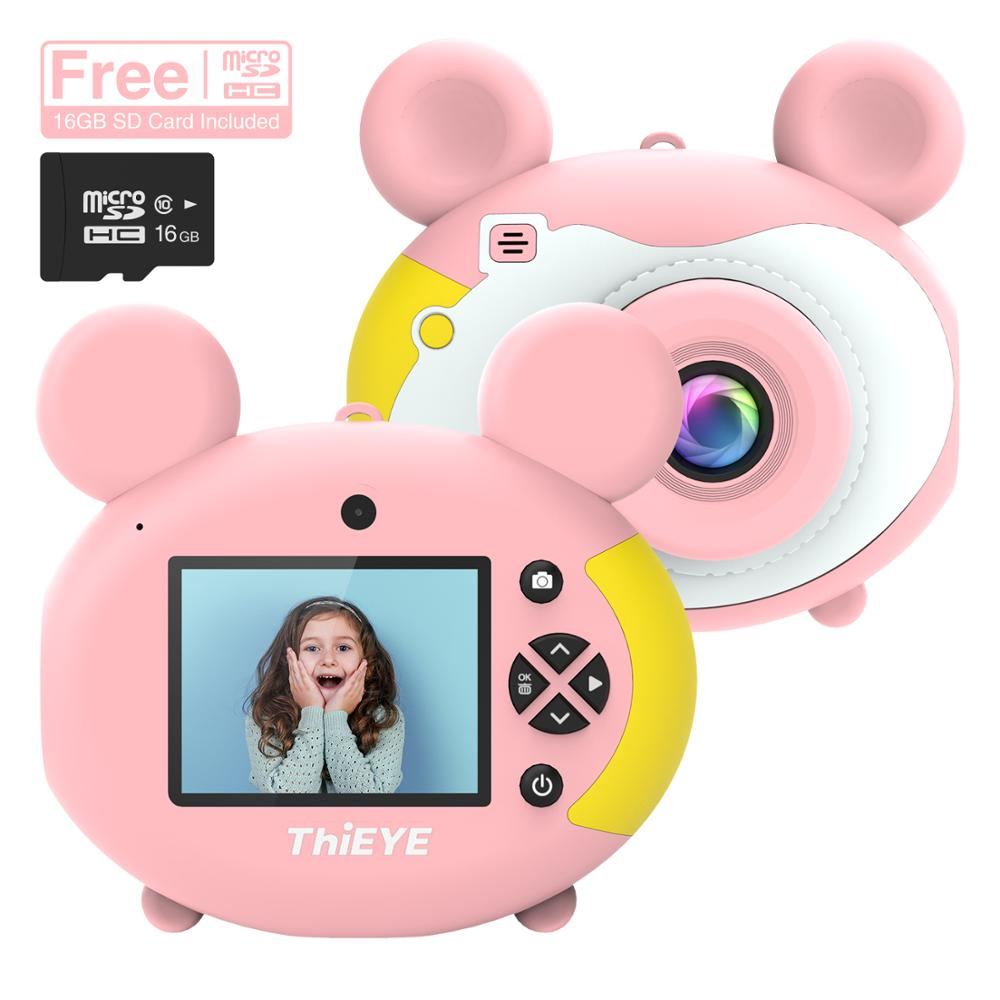 ThiEYE Kiddy 2 Kids Mini Camera Toy Cute Rechargeable Digital Camera with 2 Inch Display Screen Children Educational Toy Play-in Sports & Action Video Camera from Consumer Electronics    3