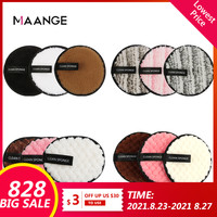 MAANGE-esponja de fibra suave para maquillaje, utensilio para quitar maquillaje, doble cara, fácil de usar
