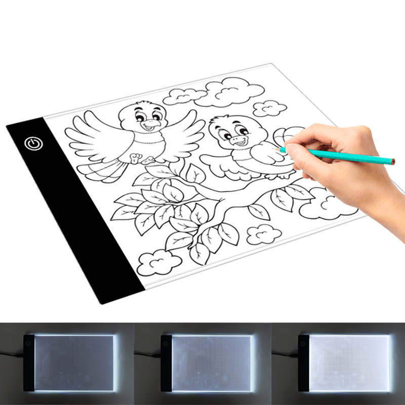 <font><b>LED</b></font> <font><b>Light</b></font> Box Tracer <font><b>A5</b></font> 9.4*5.9 Inch Drawing Tablet Graphic Writing Digital Copy <font><b>Pad</b></font> Board Diamond Paint Sketch Anime Dropship image