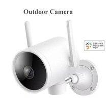 Xiaomi ip açık kamera su geçirmez PTZ akıllı WIFI Webcam 270 açı 1080P H.265 gece görüş çift anten sinyali için mi ev App