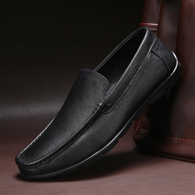New Summer Men Shoes Casual Luxury Brand Genuine Leather Mens Loafers Moccasins Italian Breathable Slip on Boat Shoes