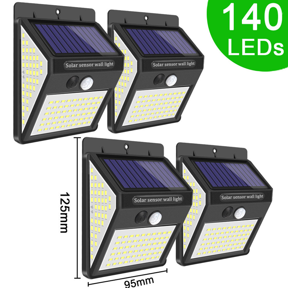 3Mode 140 LED Garden Solar Light Outdoor Motion Sensor Solar Security Light For Wall Fence Decoration PIR Waterproof Energy Lamp