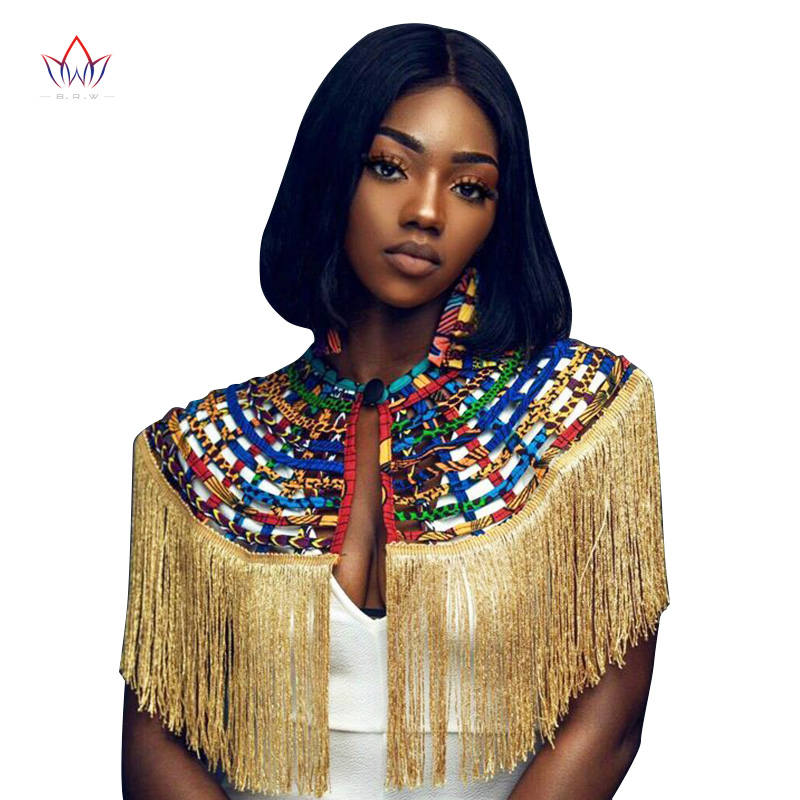 Ankara African Net Necklaces Shawl Collar With Tassel Women Clothings Accessories African Multistrand Necklace Jewelry SP055