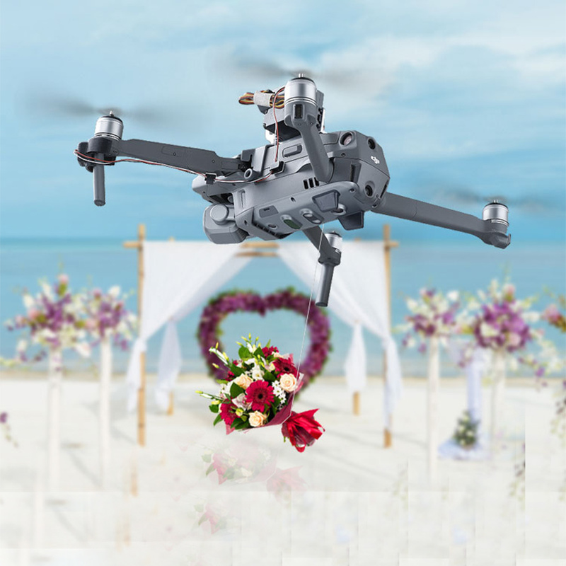 Luxury Price of  Mavic2 Drone Thrower Air-Dropping Thrower System Wedding Ring Gift Emergency Delivery Rescue Fishin