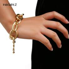 IngeSight.Z Men Punk Hip Hop Miami Cuban Chunky Thick Bracelets Bangles Heavy Metal Friendship Bracelets Women Jewelry Nightclub(China)