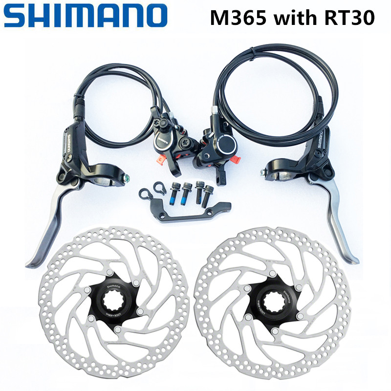 Shimano M365 Brake bicycle bike MTB Hydraulic Disc Brake Set BR BL M365 Brake w/n G3 HS1 RT30 Rotor 160mm Mountain Bike Brakes|Bicycle Brake|   - AliExpress