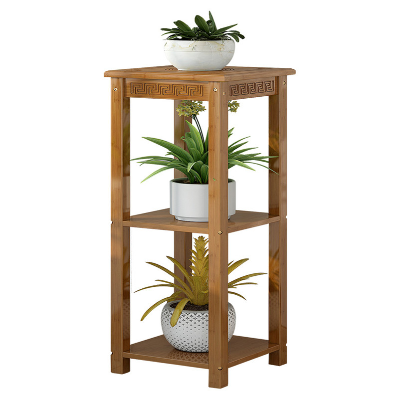 Style Rack Bamboo Flowerpot Frame Living Room Green Luo Flower Airs Indoor Ground Balcony Flower Rack