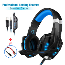 G9000 gaming Headset Wired Glowing Earphones for PS5 Headphone Deep Bass Stereo Casque with Mic for PS4 new XBOX PC Laptop